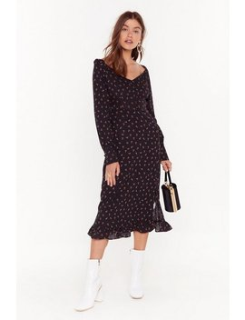 Puff Sleeve Button Down Tea Dress by Nasty Gal