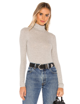 Micro Modal Rib Turtleneck Top by Atm Anthony Thomas Melillo