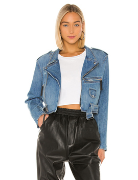 Jessie Denim Moto Jacket by Frankie B