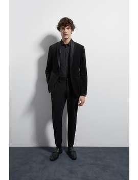 Velvet Tuxedo Jacket by Zara