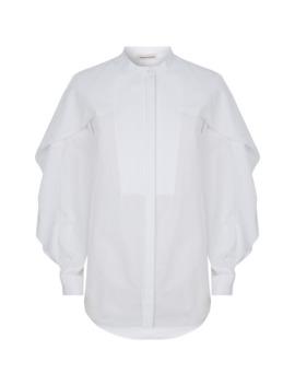 Cotton Ruffle Trim Shirt by Alexander Mc Queen