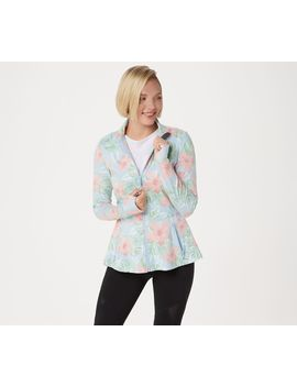 Tracy Anderson For G.I.L.I. Zip Front Peplum Jacket by Tracy Anderson For Gi.L.I. Got It Love It.
