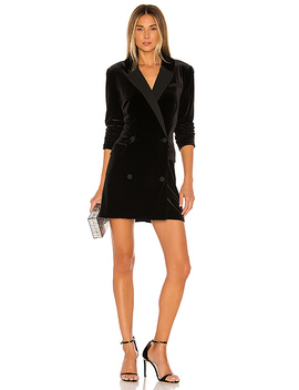 Ruched Velvet Blazer Dress by 1. State