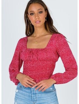 Blakely Top Red by Princess Polly