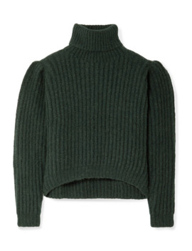 Nicola Ribbed Alpaca Blend Turtleneck Sweater by Apiece Apart