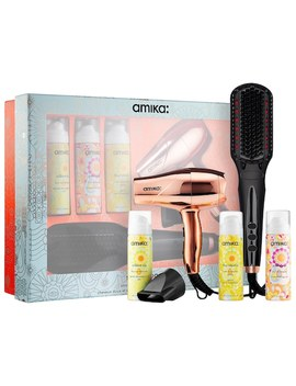 Polished Perfection Straightening Brush 2.0 Smooth Operator Set by Amika