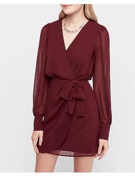 Chiffon Wrap Dress by Express