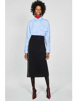 Skirt With Text Print Stripe by Zara