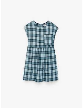 Textured Plaid Pinafore Dress by Zara