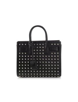 Saint Laurent Ysl Black Nano Studded Sac De Jour Tote Bag Purse by Yves Saint Laurent