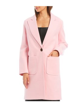 Sammy One Button Front Wool Blend Long Jacket by Gianni Bini