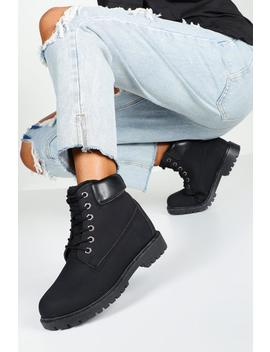 Wide Fit Hiker Boots by Boohoo