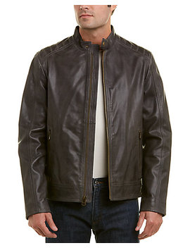 Cole Haan Washed Leather Jacket by Cole Haan