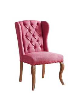 Jamison Passion Fruit Pink Wingback Dining Chair With Stone Gray Legs by Pier1 Imports