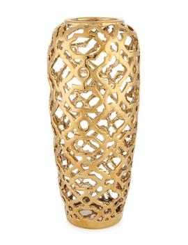 "15"" Gold Pierced Vase 15"" Gold Pierced Vase by Home Essentials And Beyond Home Essentials And Beyond"