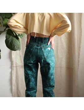 Vintage 80's, Incredible, Emerald, Tie Dye Guess by Depop