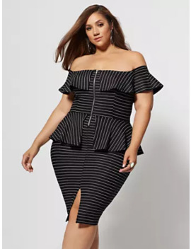Marisella Zip Peplum Bodycon Dress by Fashion To Figure