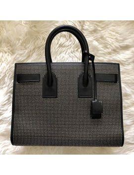 Saint Laurent Sac De Jour Mini Studded Tote 490 Black Leather Satchel $3490 by Yves Saint Laurent