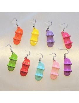 Adorable Skateboard Earrings!! For My Skater Guyz N by Depop