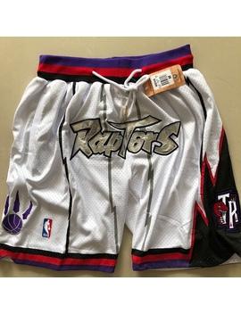 Toronto Raptors Retro Shorts 🏀  🔴 Embroidered Shorts by Depop