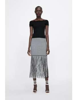 Top With Straight Cut Neckline by Zara