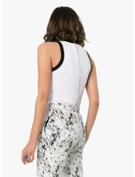 Logo Intarsia Sleeveless Bodysuit by Balmain