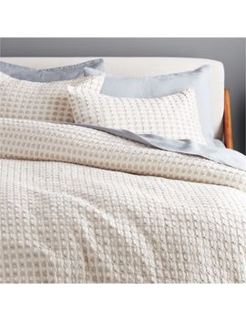 Estela Grey And White Duvet Cover Full/Queen by Crate&Barrel