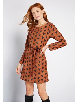 A Little Heart To Heart Corduroy Dress by Compania Fantastica