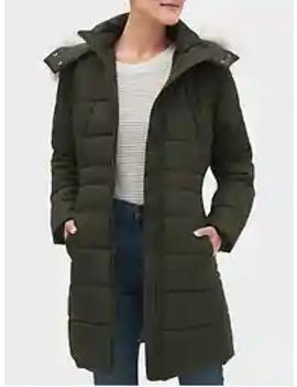 Faux Fur Hooded Long Puffer Jacket by Banana Republic Factory