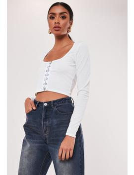 White Hook And Eye Crop Top by Missguided