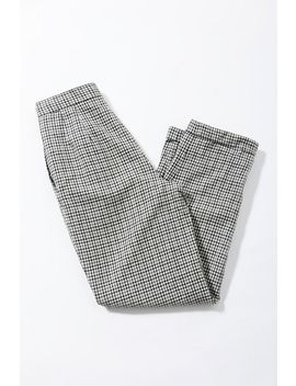 Vintage Black And White Plaid Trouser Pant by Urban Renewal