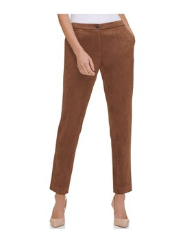 Faux Suede Trouser Pants by Tommy Hilfiger
