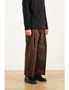 Menswear | Twill Volume Pants, Brown by Olive