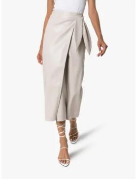 Amas Midi Wrap Skirt by Nanushka