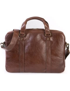 Becker Leather Briefcase by Boconi