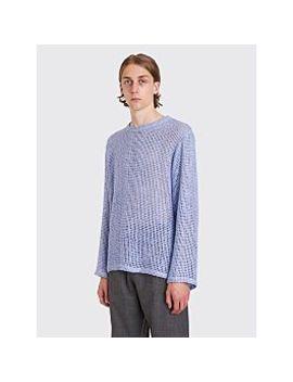 Bianca Chandôn Silk Burlap Pullover Dusk Blue by Très Bien