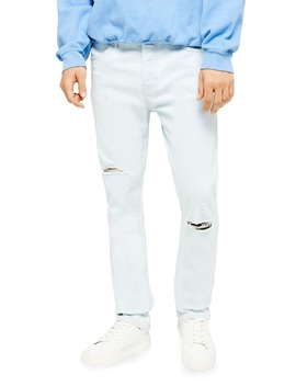 Kai Bleach Slim Fit Ripped Stretch Jeans by Topman