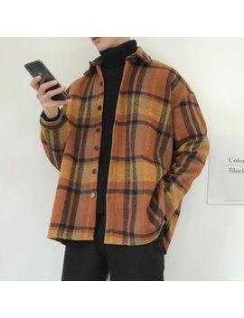 Obikan   Couple Matching Long Sleeve Plaid Shirt by Obikan