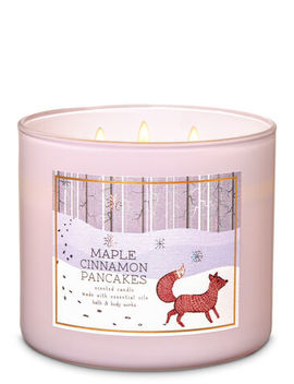 Maple Cinnamon Pancakes   3 Wick Candle    by Bath & Body Works