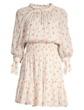 Maui Clip Long Sleeve Floral Dress by Rebecca Taylor