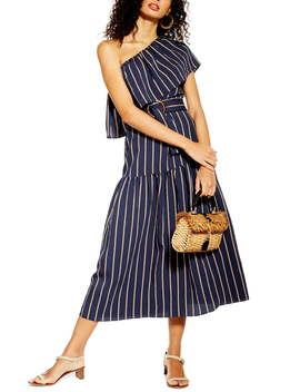 Sicily One Shoulder Midi Dress by Topshop