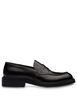 Brushed Penny Loafers by Prada