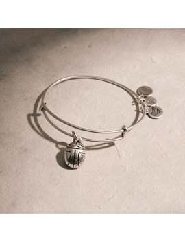 Scarab Charm Bangle Rafaelian Silver | 100 Made by Alex And Ani