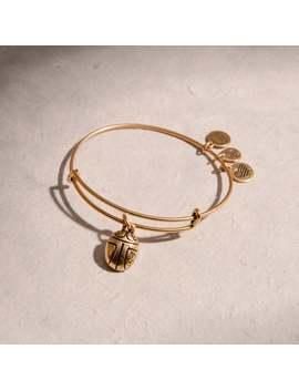 Scarab Charm Bangle Rafaelian Gold | 100 Made by Alex And Ani