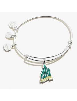 Wizard Of Oz Emerald City Charm Bangle Shiny Silver by Alex And Ani