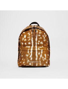 Deer Print Nylon Backpack by Burberry