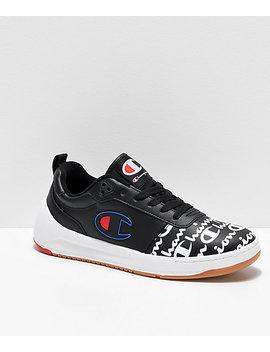 Champion Super Court Low Print Black Shoes by Champion