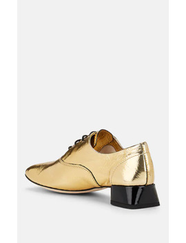 Crinkled Leather Oxfords by Repetto