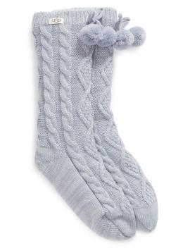 Pom Pom Fleece Lined Socks by Ugg®