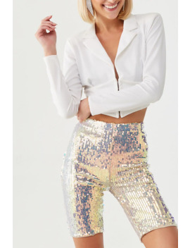 Sequin Biker Shorts by Forever 21